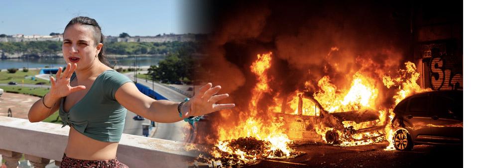 Cristina Morales, antisistema y pro-violencia.