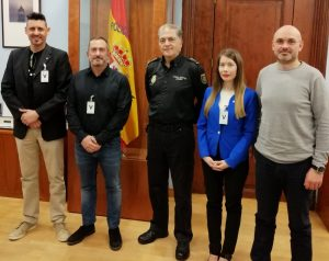 Jefatura Superior del CNP en Cataluña. Politeia se reune con José Antonio Togores.