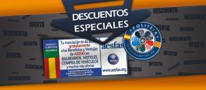 Ofertas exclusivas de AESFAS para socios/as de POLITEIA