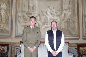 David Hernández se reúne con el Inspector General del Ejército